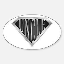 SuperUncle(metal) Oval Decal