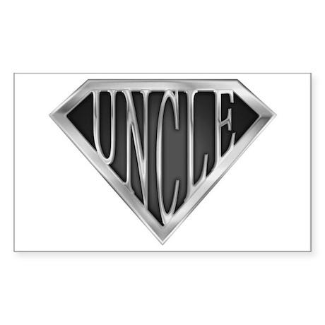 SuperUncle(metal) Rectangle Sticker