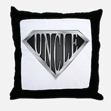 SuperUncle(metal) Throw Pillow