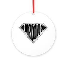 SuperUncle(metal) Ornament (Round)