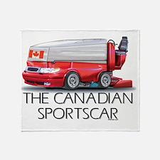 Canadian Sportscar Hockey Throw Blanket