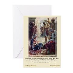 Magi Worship-Copping-Greeting Cards (Pk of 10)