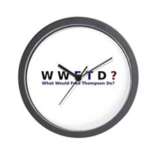 What Would Fred Thompson Do Wall Clock