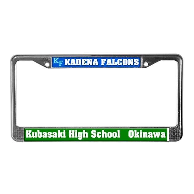 Kadena Decorative Pillow : Kadena Falcons License Plate Frame by mdg_store