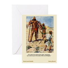 David and Goliath-Brock-Greeting Cards (Pk of 10)