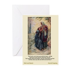 Ruth and Naomi-Copping-Greeting Cards (Pk of 10)