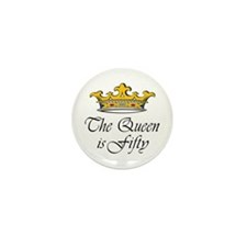 50th birthday gifts woman Mini Button (100 pack)