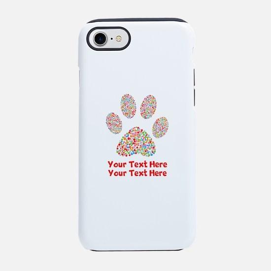 Dog Paw Print Customize iPhone 8/7 Tough Case