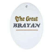 Brayan   Oval Ornament