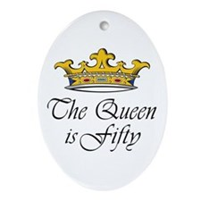 50th birthday gifts woman Oval Ornament