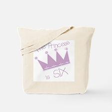 Princess I'm Six Tote Bag