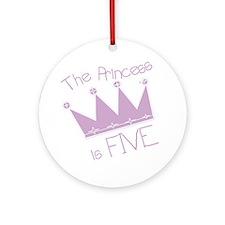 Princess I'm Five Ornament (Round)