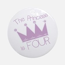 Princess I'm Four Ornament (Round)