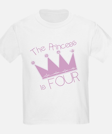 Princess I'm Four T-Shirt
