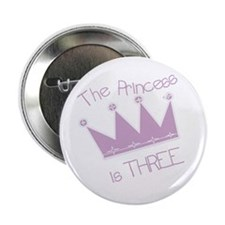 Princess I'm Three Button