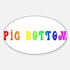 Gay Pride Pig Bottom Oval Decal