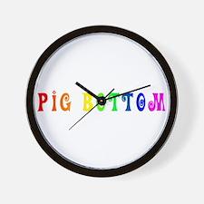 Gay Pride Pig Bottom Wall Clock