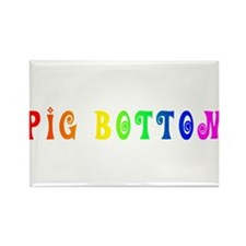 Gay Pride Pig Bottom Rectangle Magnet