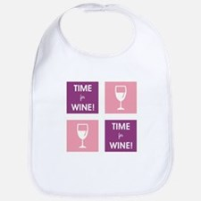 TIME FOR WINE! Bib