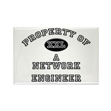 Property of a Network Engineer Rectangle Magnet