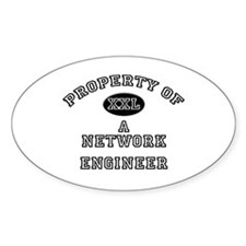 Property of a Network Engineer Oval Decal