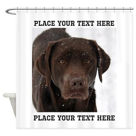 Labrador Retriever Dog Personalized Shower Curtain