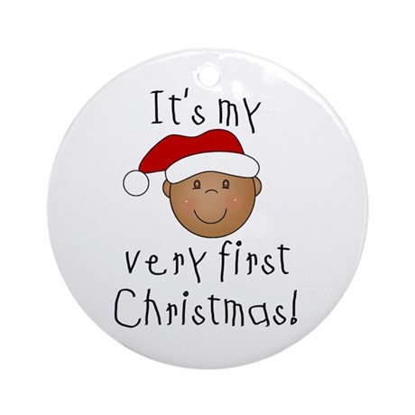 First Christmas (African American)Ornament (Round)