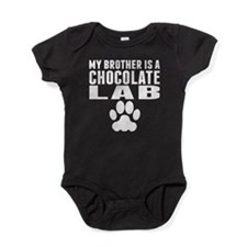 My Brother Is A Chocolate Lab Baby Bodysuit
