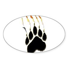 Bear Pride Paw Rip Oval Decal
