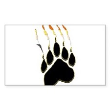 Bear Pride Paw Rip Rectangle Decal