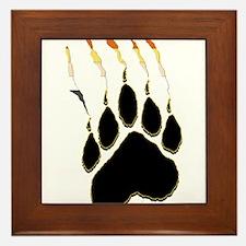 Bear Pride Paw Rip Framed Tile