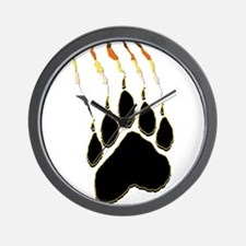 Bear Pride Paw Rip Wall Clock