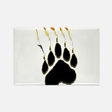 Bear Pride Paw Rip Rectangle Magnet