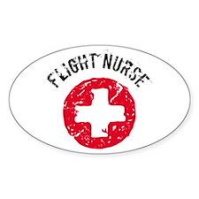 Flight Nurse Oval Decal
