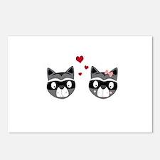 Racoons in love Postcards (Package of 8)