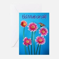 Eid Mubarak Daisies Greeting Cards (Pk of 20)