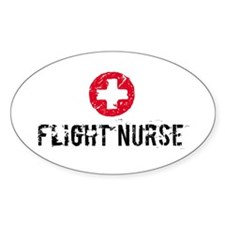 Flight Nurse SM Oval Decal