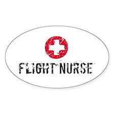 Flight Nurse SM Oval Stickers