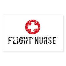 Flight Nurse SM Rectangle Decal