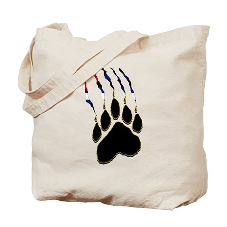 Leather Pride Paw rip Tote Bag