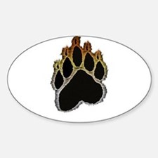 Bear Pride Glow Paw Oval Decal