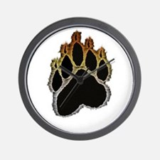 Bear Pride Glow Paw Wall Clock