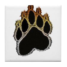 Bear Pride Glow Paw Tile Coaster