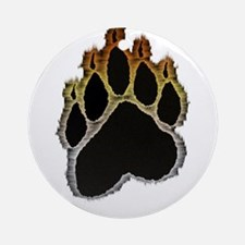 Bear Pride Glow Paw Ornament (Round)