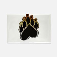 Bear Pride Glow Paw Rectangle Magnet