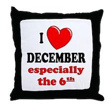 December 6th Throw Pillow