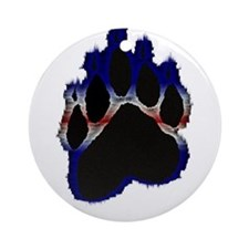Leather Pride Glow Paw Ornament (Round)