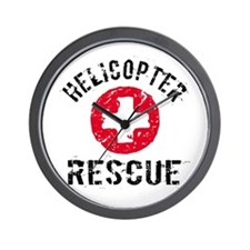 helicopter Rescue Wall Clock