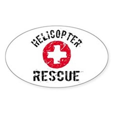 helicopter Rescue Oval Decal