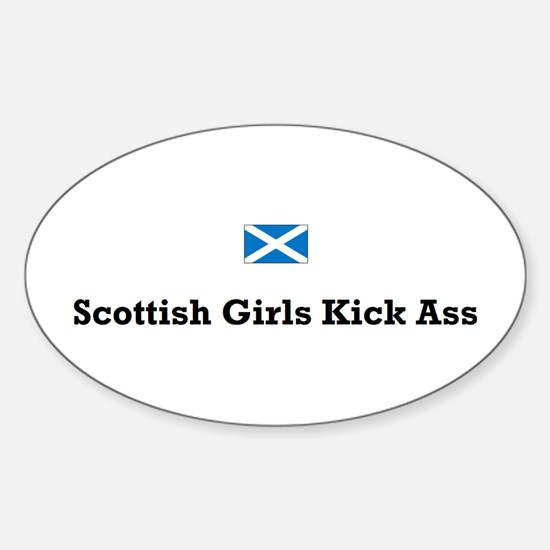 Scottish Girls Oval Decal